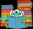 green-monster-reading-book